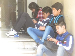 Students in Argentina read the New Testaments they had just received from Gideons during a Scripture Blitz on their campus. Please pray they will continue reading and commit their lives to following the Lord