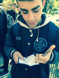 Nicolas, a high school student in Argentina, signs his New Testament just moments after praying to receive Jesus as his Lord and Savior. Please pray that this brave, young man will continue walking daily with the Lord