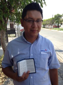 Jose accepted Christ as Lord of his life during the 2015 Mexico International Scripture Blitz.